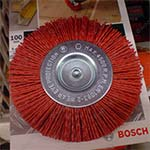 полимерная щетка для браширования для дрели